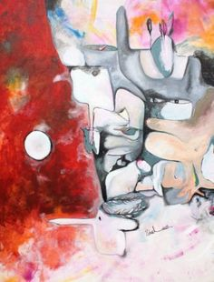 "Saatchi Art Artist masoumeh zahedi dehouei; Painting, ""Growth in commotion"" #art"