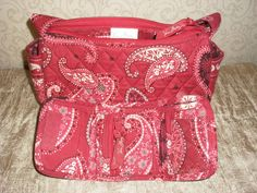 Retired Vera Bradley Mesa Red Handbag and Wallet. Starting at $14 on Tophatter.com!