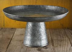 Galvanized Metal Cake and Dessert Stand