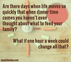 What if one hour a week could change how you feel the hour before dinner? // momlifetoday.com