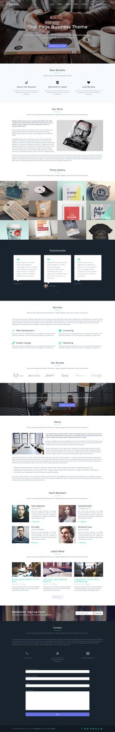 457 best one page website templates images in 2019