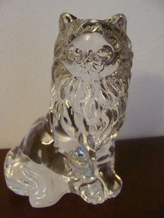 Crystal Cat Figurine by Lenox  4 high  Pretty by TheClassyLady, $10.00