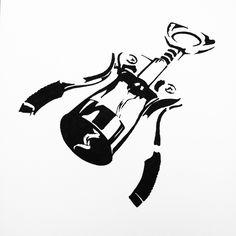 Simplified Object Illustration - Ink on Paper - Wine Cork Idea Generation Techniques, Illustrators, Objects, Graphic Design, Ink, Corks, Paper, Illustrator, India Ink