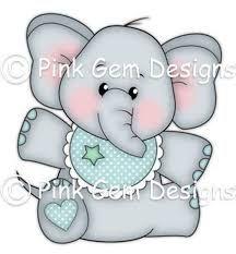 Molde De Dibujo De Elefantes Para Baby Shower Buscar Con Google Digi Stamp Baby Boy Background Elephant