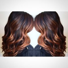 dark copper balayage hair - Google Search