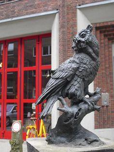 Skulptur Eule, Bernhard-Ernst-Straße. Münster.
