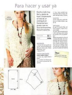 Pasatiempos entre hilos y puntadas: Ponchos / Crochet / Dos agujas / Patrones