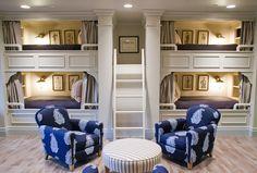 Bunk Room. Bunk Room with custom Bunk Beds. #BunkRoom #BunkBeds #CustomBunkRoom Harman Wilde.