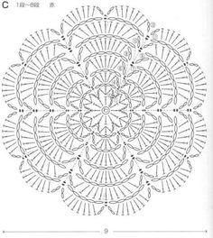 Best 12 World crochet: Motive 86 Motif Mandala Crochet, Crochet Circles, Granny Square Crochet Pattern, Crochet Flower Patterns, Crochet Diagram, Crochet Chart, Crochet Doilies, Crochet Flowers, Crochet Stitches