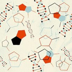 DNA print - illustration could be used on a book cover