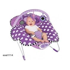 Vibrating Chair Sleeper Baby Buggy Butterfly Soft Blanket Infant Swing Girl #Sassy