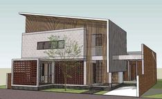Modern Tropical House, Tropical House Design, Tropical Houses, Terrace Design, Facade Design, Exterior Design, Modern Minimalist House, Modern Barn House, Wall Exterior