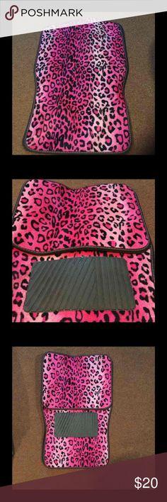 Pink cheetah car mat Never used pink cheetah car mat Other