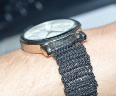 We had this old watch where the wristband broke so suddenly it came to me that I could crochet a new wristband onto it!I must say this works surprisingly well. The...