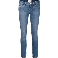 Frame Denim cropped skinny jeans ($315) ❤ liked on Polyvore