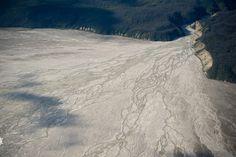 Aerial view of glaciers at Kluane National Park, Yukon, Canada