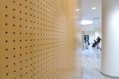 perforated wood wall