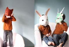 Máscaras para Halloween: mascaras papel pintado animales