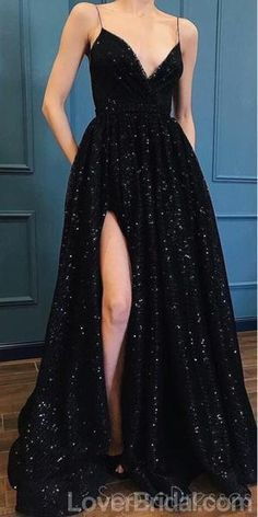 Sexy Side Slit Black Lace Long Evening Prom Dresses, Cheap Custom Part – Sposa. - Sexy Side Slit Black Lace Long Evening Prom Dresses, Cheap Custom Part – SposaDresses Prom Dresses With Pockets, Cheap Prom Dresses, Prom Party Dresses, Occasion Dresses, Dresses For Work, Sexy Dresses, Summer Dresses, Wedding Dresses, Long Dresses