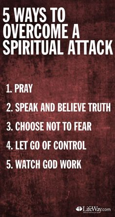 5 ways to overcome a spiritual attack