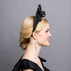 Artículos similares a NEW! Handblocked Parasisal Straw Halo Hat / Kentucky Derby / Crown Fascinator in Black with Sequin Lace and Sinamay Trim/ Royal Ascot en Etsy Kentucky Derby Image, Halo Headband, Round Hat, Royal Ascot, Couture, Kandi, Dusty Pink, Fascinator, Eyebrows