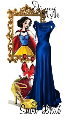 """Disney Style : Snow White"" by missm26 on Polyvore - I can see the Snow White, but MAN that dress is UH-MAY-ZING!"
