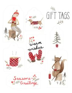 gift tags by Julianna Swaney #christmas
