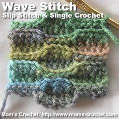 Crochet Wave Stitch Tutorial ✿⊱╮Teresa Restegui http://www.pinterest.com/teretegui/✿⊱╮
