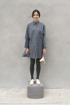 Chambray Open Back Shirt Dress from the #StudyFW14 collection