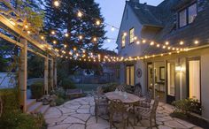 Piedmont Tudor - California Real Estate. Part of a pagoda to string lights from.