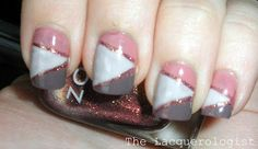 Romantic geometric nails done with striping tape =)