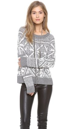 new alice + olivia Lucille Snowflake Sweater from the holiday collection