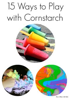 Cool ways to play with corn starch.