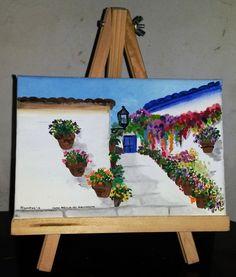 Casa con flores - Acrílico