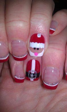 Christmas Santa Nail Art