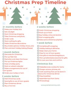 t's never too early (or late) to start getting ready for Christmas in my opinion. But, if you really want to have a smooth and relaxing holiday, there's some things that are better done in advance. That's why I designed this FREE printable Christmas prep checklist! #christmas #holiday #christmas2020 #holiday2020 #holidayprep #christmasprep #planning #printable #checklist