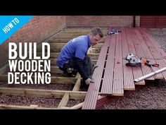 This video shows how to install decking posts for an elevated deck. In some places you need permission to build an elevated deck, some decks also require pla. Deck Building Plans, Deck Plans, Ground Level Deck, How To Level Ground, Pallet Decking, Outdoor Decking, Diy Pallet, Deck Framing, Deck Flooring