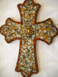 Mosaic Cross by BeMineForever on Etsy