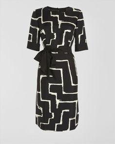 Monochrome Maze Print Dress from Jaeger