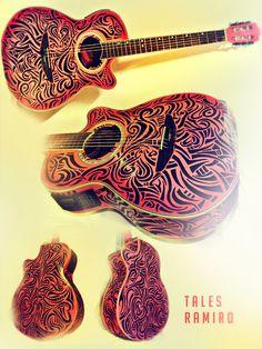 Guitar art - Desenho violão - sharpie
