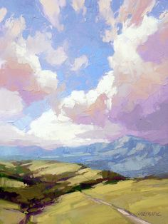 David Mensing is a impasto landscape artist painting Southwestern and Western oil paintings at Canyon Road Contemporary Art in Santa Fe, New Mexico. Watercolor Landscape, Landscape Paintings, Watercolor Artists, Watercolor Painting, Cloud Art, Sky Painting, Cave Painting, Paintings I Love, Tree Paintings