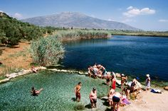 Moustos Lake, Greece Moustos Lake therapeutic baths on Astros to Agios Andreas road. Greece Tourism, Greece Travel, Corinth Canal, Road Pictures, Turquoise Water, Lonely Planet, Dream Vacations, Athens, Adventure Travel