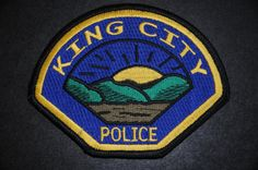 King City Police Patch, Monterey County, California (Current 1999 Issue)