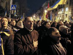 Ukraine mass protests resume after government wins vote | The Columbian