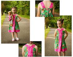 Mandy K Designs Party Block Dress (sz 12m - 14) #girls #doll