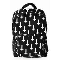 Backpack Inverted Cross ❤ liked on Polyvore