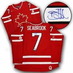 BRENT SEABROOK Team Canada SIGNED 2010 Olympic JERSEY . $379.05. This is an official licensed SIGNED Brent Seabrook Olympic Team Canada jersey. The jersey is brand new with all of the lettering and numbering professionally sewn on. The player has beautifully signed the number. To protect your investment, a Certificate Of Authenticity and tamper evident hologram from A.J. Sports World is included with your purchase.