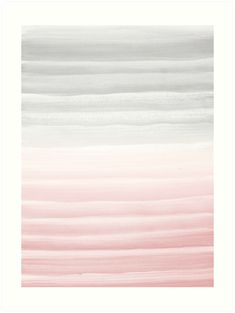 'Touching Blush Gray Watercolor Abstract Stripe Art Print by anitabellajantz Large Prints, Framed Prints, Canvas Prints, Kitchen Gallery Wall, Gray Aesthetic, Abstract Watercolor, House Colors, Wall Tapestry, Decorative Throw Pillows