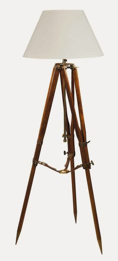 Destinations Vintage... Upcycled & Repurposed Stuff: Tripod Lamp Made from Crutches