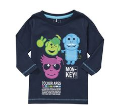 Cool monkey childrens smocked clothing
